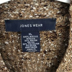 Jones Wear Sweaters - Jones Wear Brown Tones long sleeve v-neck sweater